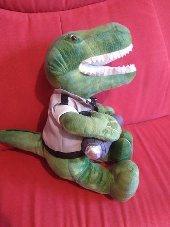 Maskotka smok dinozaur 35cm duża supwr stan zdejmowane ubranie