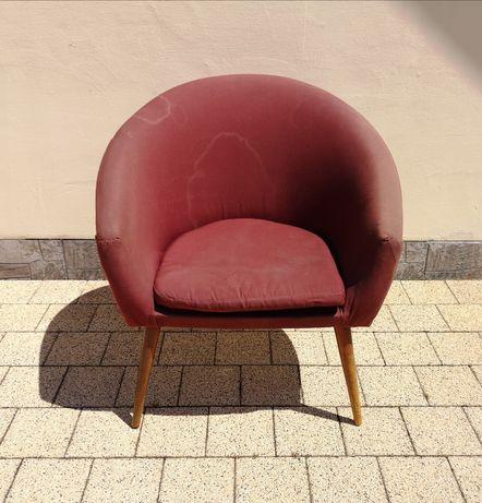 Okazja! Fotel PRL, Unikat, dobra baza do renowacji!