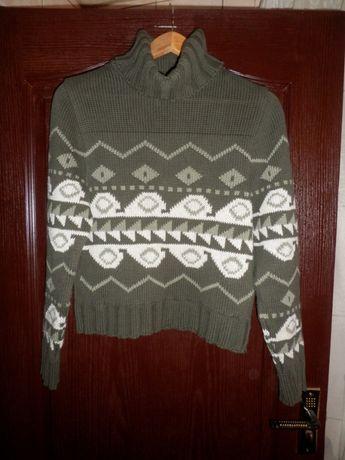 теплый свитер гольф