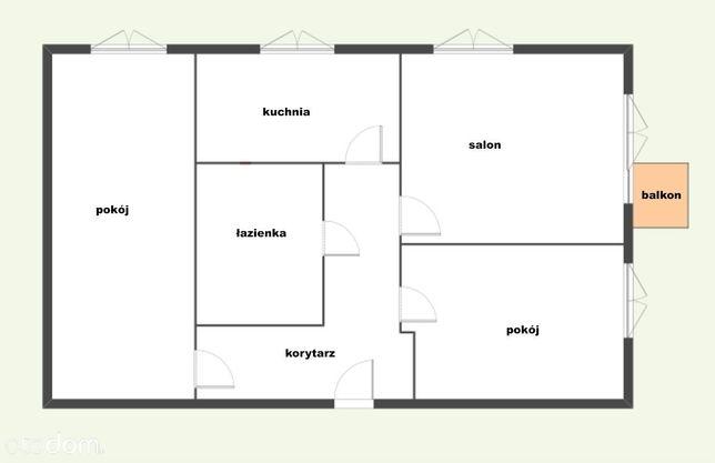 Duże jasne odświeżone balkon 3 pokoje