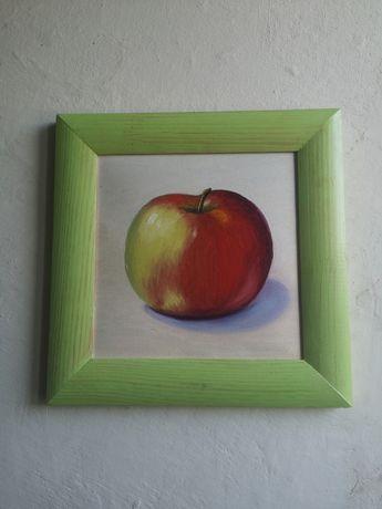Apple яблуко картина маслом 27*27, IPhone