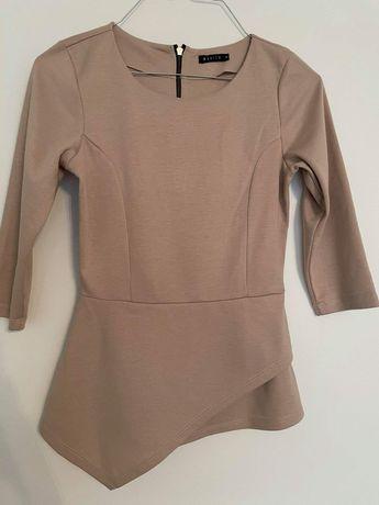 Beżowa bluzka z suwakiem Mohito xs