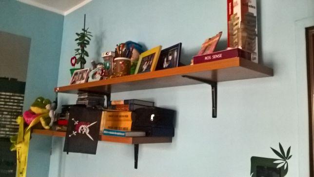 Dwie porządne półki na ścianę: 130,5/25 cm - OKAZJA!