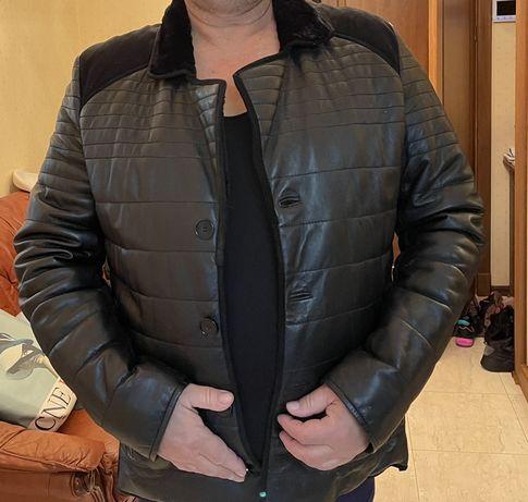 Продам кожанный  пиджак  на синтепоне