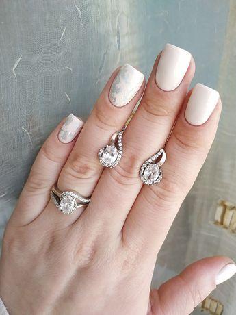 Продам серебряные сережки, серебряное кольцо, серебряный набор