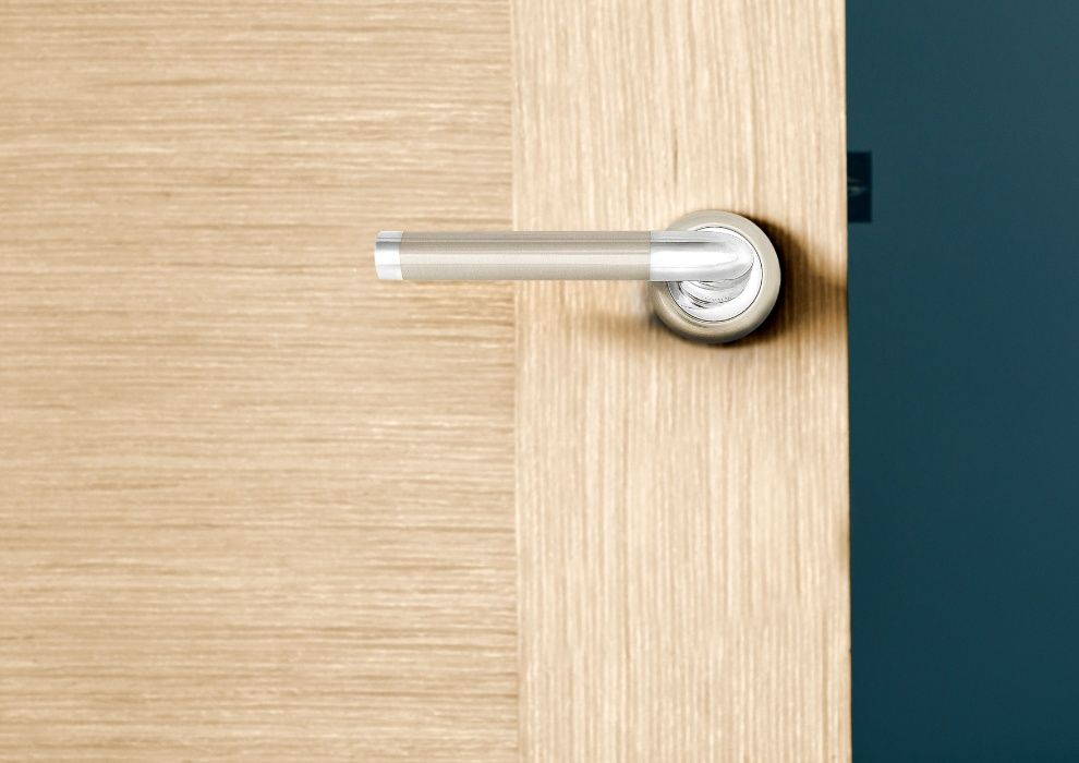 Ручка дверная 001 LINDE OPTIMA A-1209 SN-CP Днепр - изображение 1