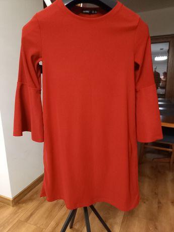 Sukienka damska, zgaszona czerwień