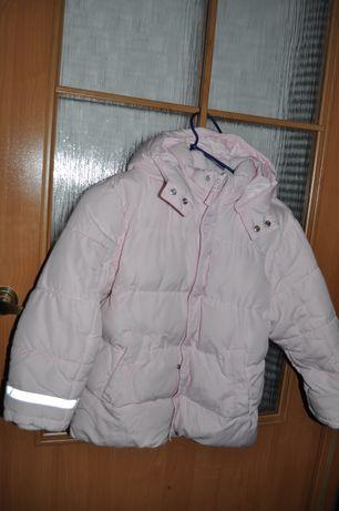 kurtka zimowa dziewczęca H&M r.128 cm