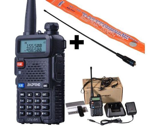 Рация, радиостанция Baofeng UV-5R + усиленная антенна NA-771+гарнитура