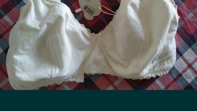Nowy bawełniany biustonosz do karmienia piersią. Rozmiar 90C. Esmara.