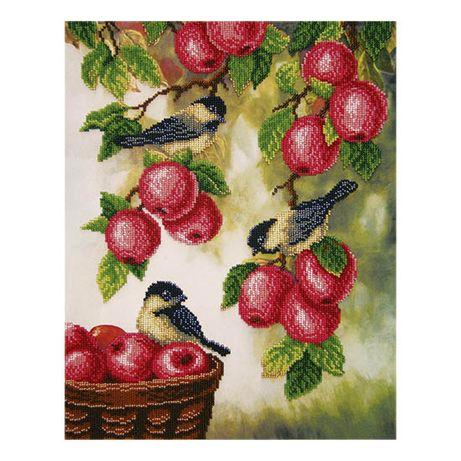 Синички с яблоками (Урожай). Набор для вышивания бисером