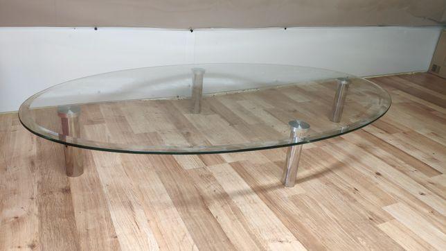Ława niska z solidną szyba, stolik kawowy, meble