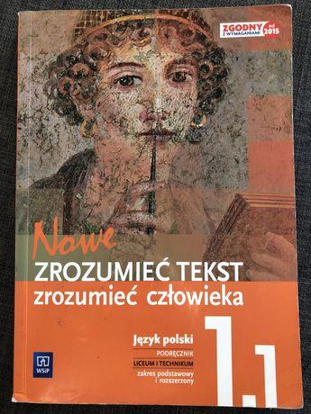 Nowe zrozumieć tekst zrozumieć człowieka 1.1 język polski wsip