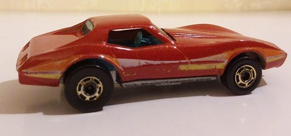 HOT WHEELS CORVETTE Stingray Matell Hong Kong 1980