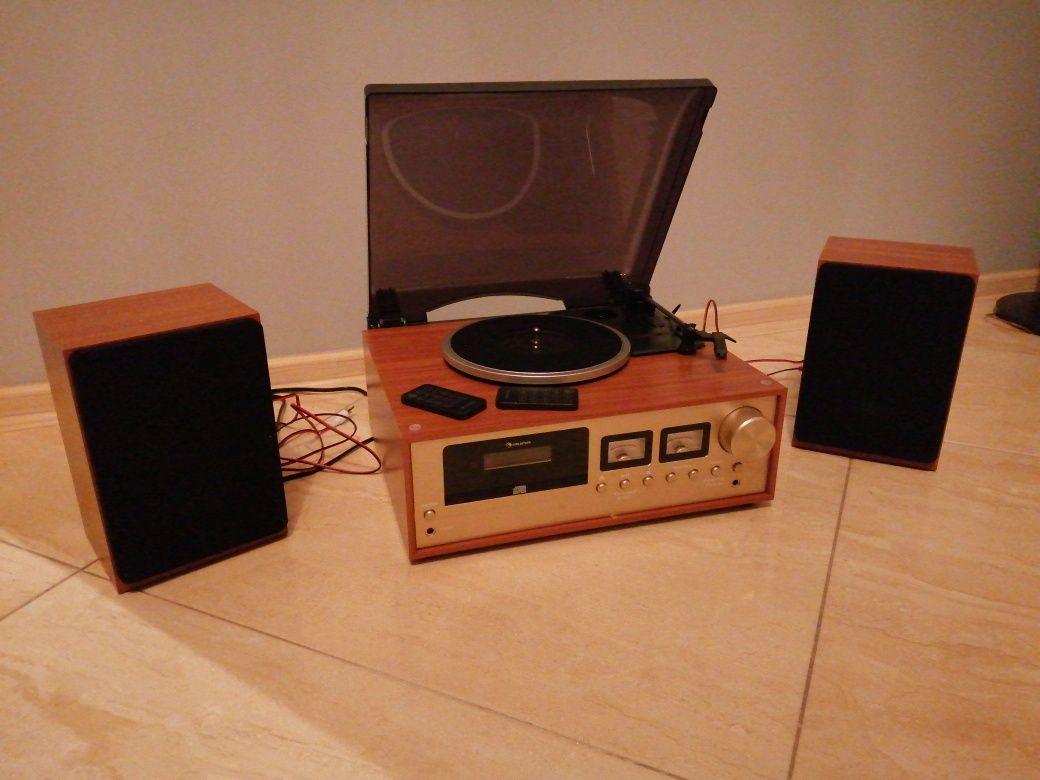 Zestaw stereo w stylu retro
