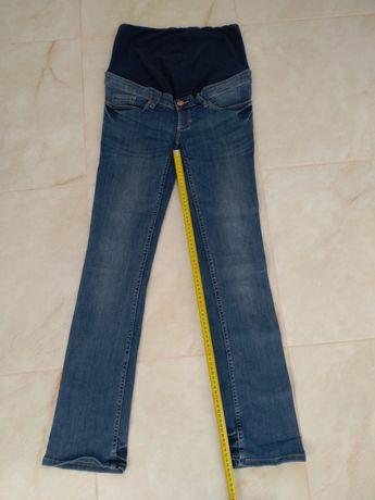 Spodnie ciążowe h&m niebieskie rozm. 36