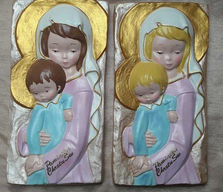 Pamiątka Chrztu Świętego. Obrazek ręcznie malowany. Made by Hand.