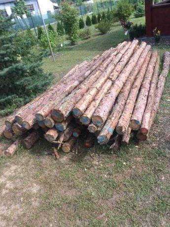 Stemple budowlane drewniane - 200 szt. (320-340 cm)
