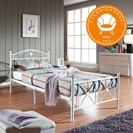 Łóżko Prowansja Metalowe Kute + Stelaż + Szklane Kryształki + Wysyłka