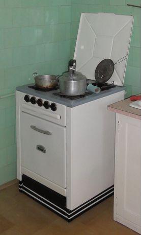Stylowa kuchnia kuchenka gazowa węglowa PRL old school