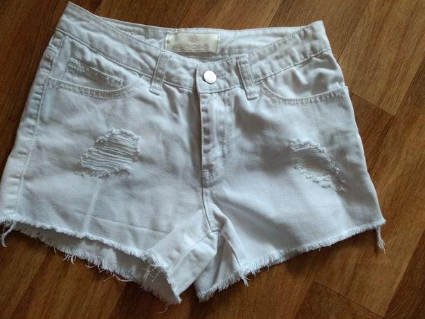 Spodenki Jeans białe rozm XS