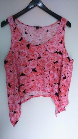 crop top w róże M/L