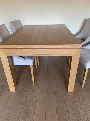 Sprzedam stół rozkładany (dąb bielony) plus 4 krzesła tapicerowane