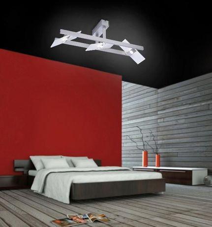 lampa sufitowa Aluminium, 3-punktowa LED PUKKA Paul Neuhaus 8002-95