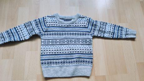 Sweterek w skandynawski wzór z domieszką wełny 98 Polomino C&A