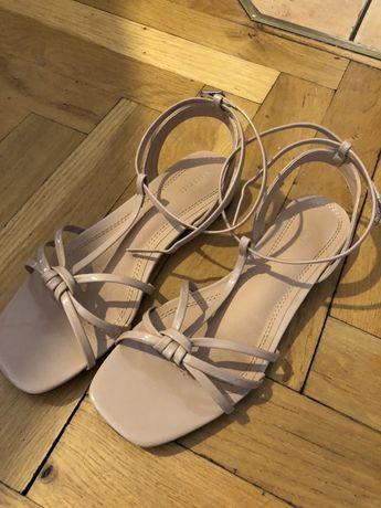 Sandały 37 Reserved beżowe kremowe