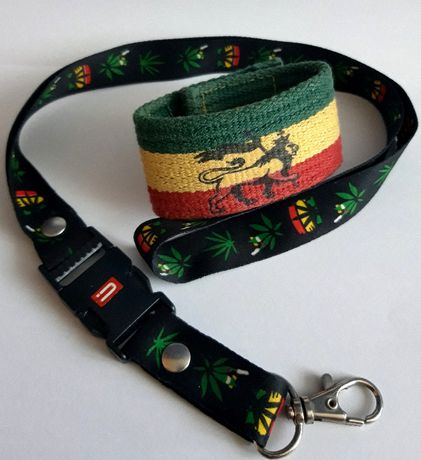 Zestaw Rasta/Rastafari - smycz + opaska