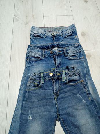 Spodnie jeansowe Zara 116. 3 pary