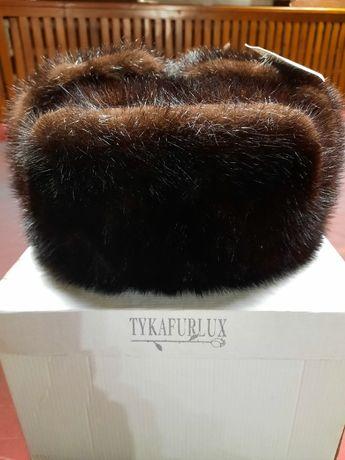 Мужская норковая шапка TYKAFURLUX. Размер 58