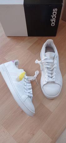 Adidas advantage 38 2/3 , 39 1/3 , 41,5 nowe buty biala skora naturaln