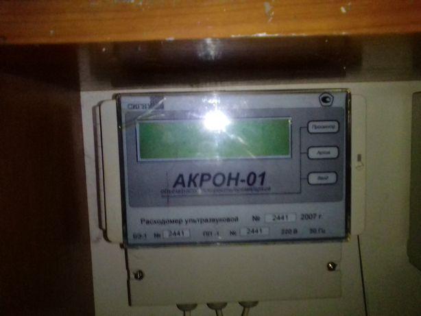АКРОН-01 стационарный - ультразвуковой расходомер с накладными датчика
