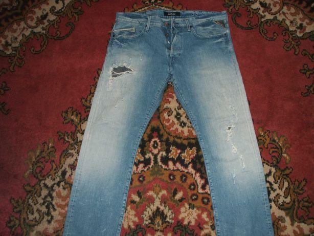 Super spodnie Replay 33 pas 92 dziury lato,levis diesel tommy sklep500