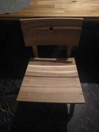 Krzesła drewniane akacja jak NOWE
