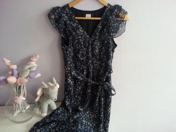 Sukienka CAMALEU ( ciążowa) letnia/wiosenna w kwiatki, XS/S