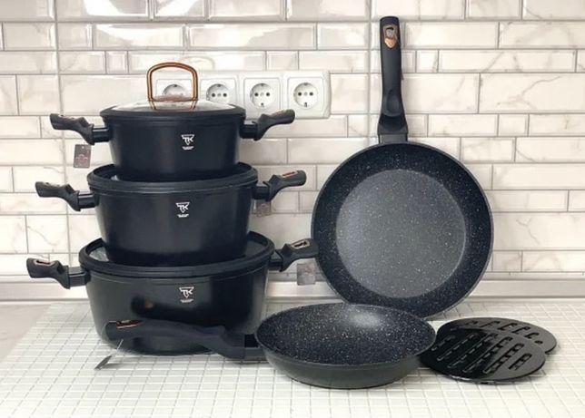 Набор посуды с моаморным покрытием