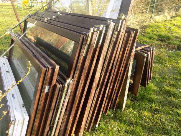 Oddam za darmo okna drewniane, bez futryn,  transport własny