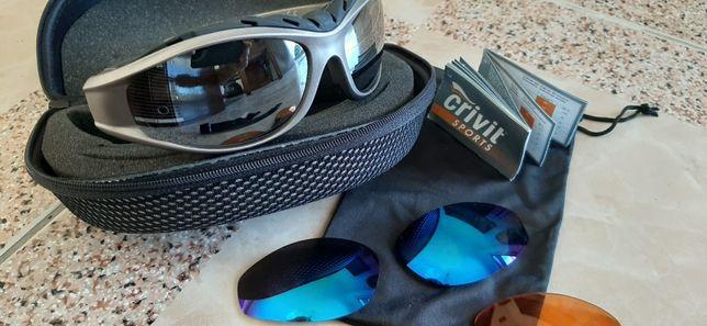 Óculos de Sol para Desportos com 3 pares de lentes Marca: CRIVIT Sport