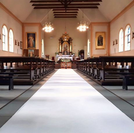 Gruby Dywan Biały (Szeroki 1,5m i 1m) Dekoracja Kościoła Sali na Ślub