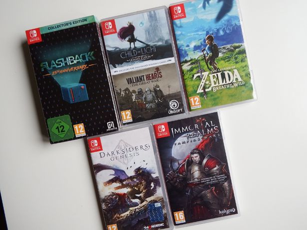 NINTENDO SWITCH ZELDA BOTW Darksiders Immortal Realms gry 12 +