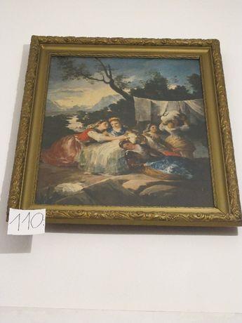 Las Lavanderas GOYA Obraz kobiety stara zdobiona rama
