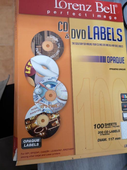 Papel autocolante - Identificador de CDs