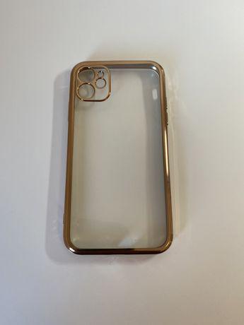 Capa dourada iphone 11