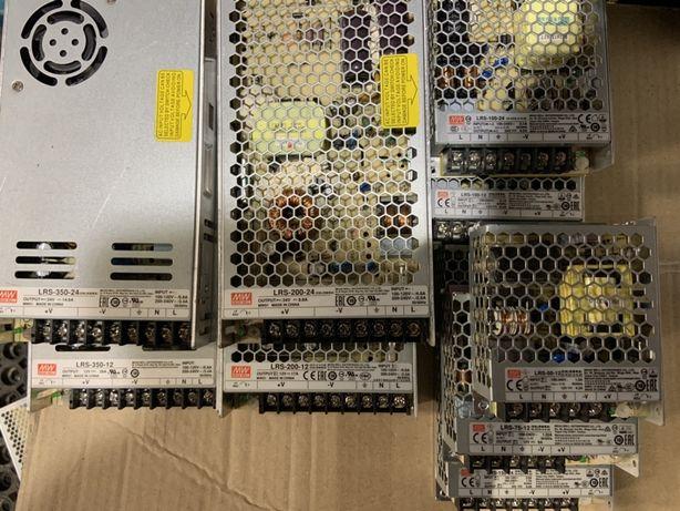 Блоки питания Mean Well 12В и 24В разной мощности