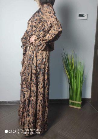 Sukienka długa pantera ! Unikatowy krój angielskiej firmy Nasty gal