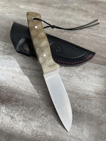 Faca Muela Kodiak Sandvik (lâmina fixa / full tang) bainha em couro