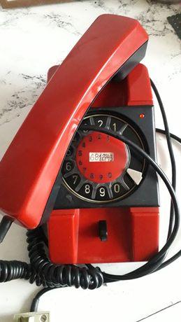 Telefon Bratek PRL czerwony